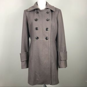 Kenneth Cole New York Women's Gray Pea Coat 12